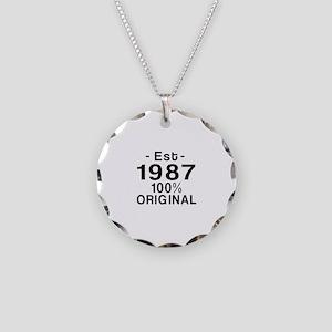 Est.Since 1987 Necklace Circle Charm