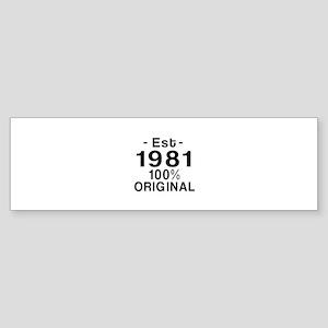 Est.Since 1981 Sticker (Bumper)