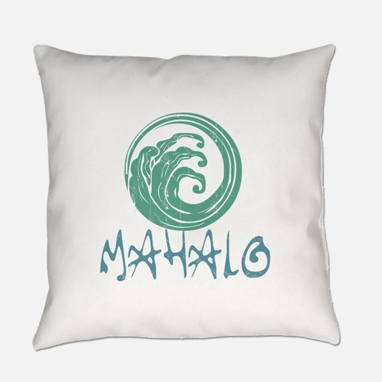 Mahalo Wave Everyday Pillow