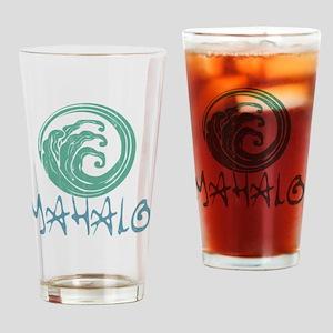 Mahalo Wave Drinking Glass