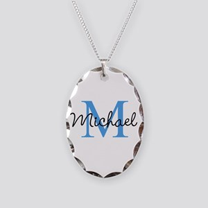 Personalize Iniital, And Name Necklace Oval Charm