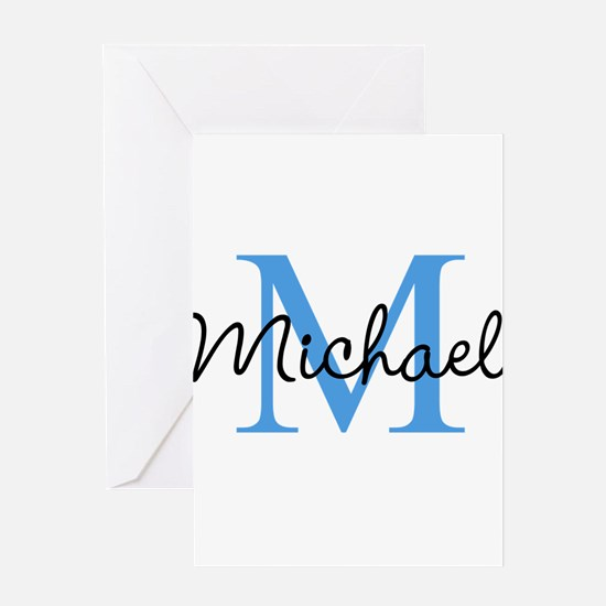Personalize Iniital, and name Greeting Cards