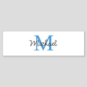 Personalize Iniital, and name Bumper Sticker