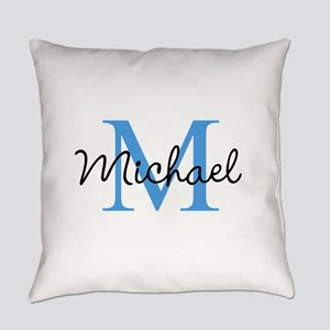 Personalize Iniital, and name Everyday Pillow