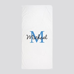 Personalize Iniital, and name Beach Towel