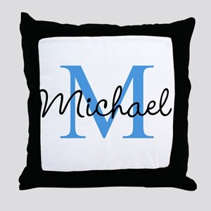 Personalize Iniital, and name Throw Pillow