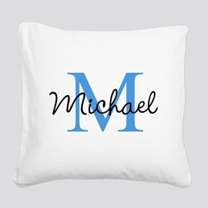 Personalize Iniital, and name Square Canvas Pillow