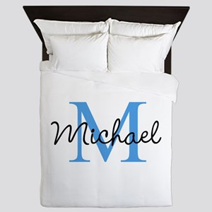 Personalize Iniital, and name Queen Duvet