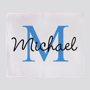 Personalize Iniital, and name Throw Blanket