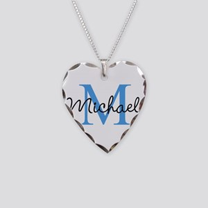 Personalize Iniital, And Name Necklace Heart Charm