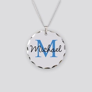 Personalize Iniital, And Necklace Circle Charm