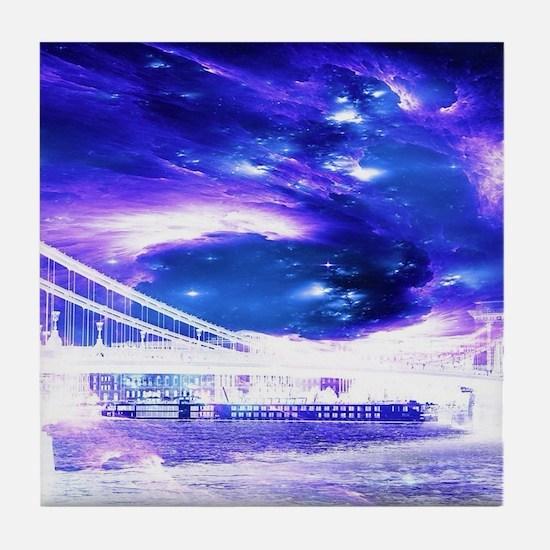 Amethyst Sapphire Budapest Dreams Tile Coaster