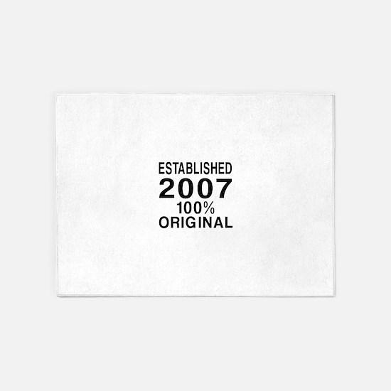 Established 2007 5'x7'Area Rug