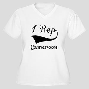 I Rep Cameroom Women's Plus Size V-Neck T-Shirt