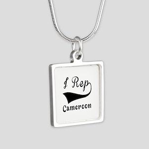 I Rep Cameroom Silver Square Necklace