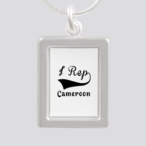 I Rep Cameroom Silver Portrait Necklace