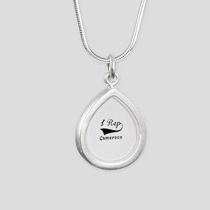 I Rep Cameroom Silver Teardrop Necklace