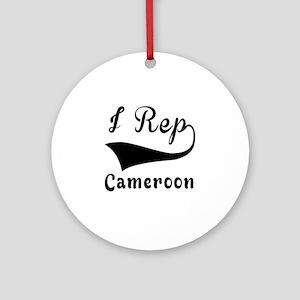 I Rep Cameroom Round Ornament