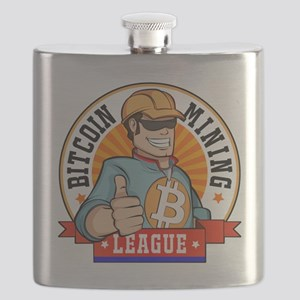 Bitcoin Mining League BML Badge Logo Flask