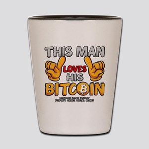 This Man Loves His Bitcoin Shot Glass