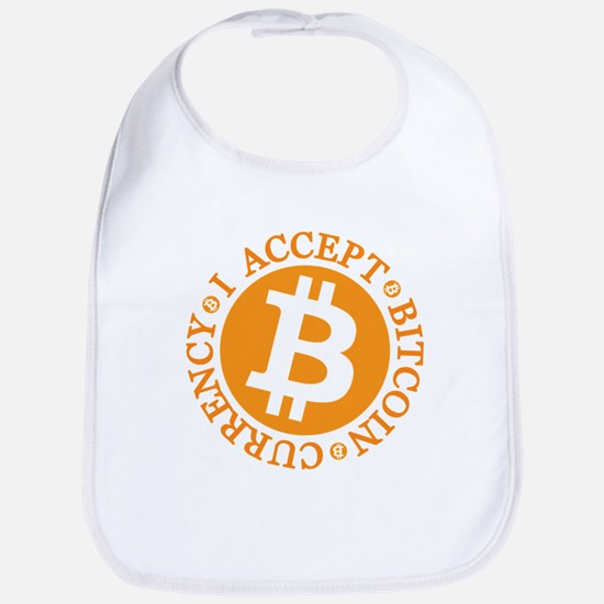 I accept Bitcoin currency round Baby Bib