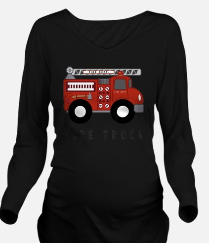 Cute Silly boys trucks are for girls Long Sleeve Maternity T-Shirt