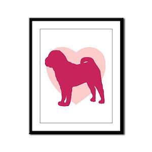 Shar Pei Valentine's Day Framed Panel Print
