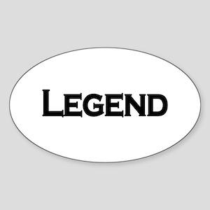 Legend Oval Sticker