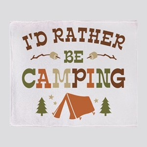 Rather Be Camping T1 Throw Blanket