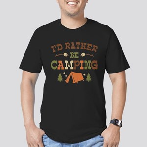 Rather Be Camping T1 Men's Fitted T-Shirt (dark)