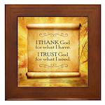 Thank God Framed Tile