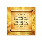 "Thank God Square Sticker 3"" X 3"""