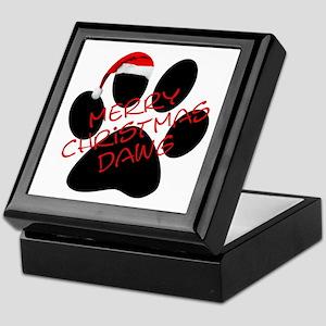 Merry Christmas Dawg Keepsake Box