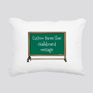 Custom Three Line Chalk Board Message Design Recta