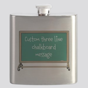 Custom Three Line Chalk Board Message Design Flask