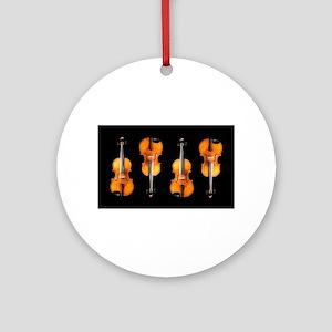 Violas-ViolinsRug Round Ornament