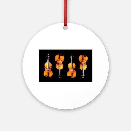 Violas-ViolinsRug.png Round Ornament