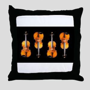 Violas-ViolinsRug Throw Pillow
