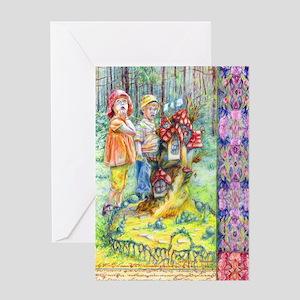 Hansel and Gretel art Greeting Cards