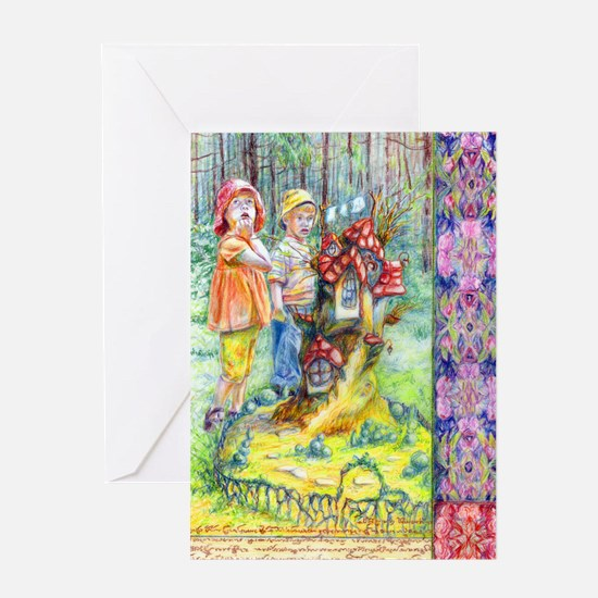 Hansel and Gretel art Greeting Cards