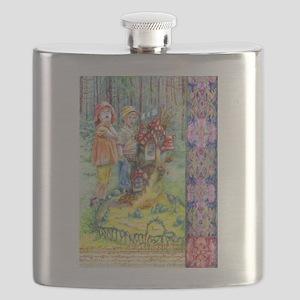 Hansel and Gretel art Flask