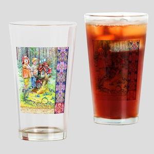 Hansel and Gretel art Drinking Glass