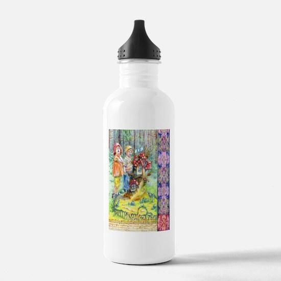 Hansel and Gretel art Sports Water Bottle