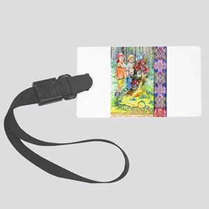 Hansel and Gretel art Large Luggage Tag