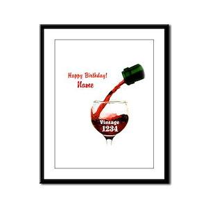 Custom Vintage Wine Framed Panel Print