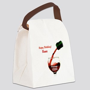 Custom Vintage Wine Canvas Lunch Bag