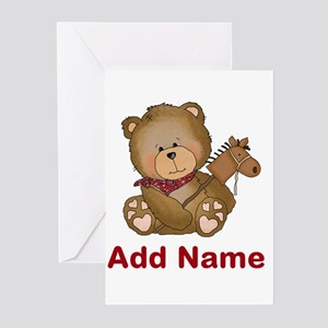 cowboy bear personalized Greeting Cards (Pk of 20)