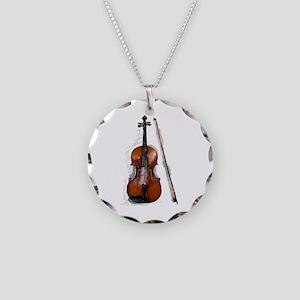 Viola06 Necklace Circle Charm