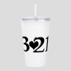 321 Down Syndrome Awar Acrylic Double-wall Tumbler