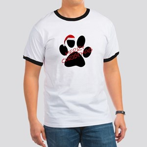 Cute Dog Paw Print Ringer T